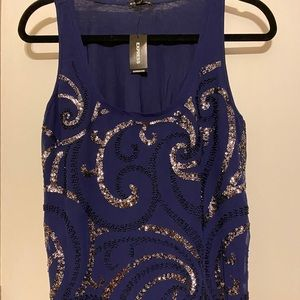 Sequin tank by express